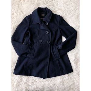 PAPER DOLL navy blue pea coat